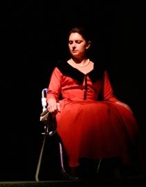 Makela Spielman as the Angel.