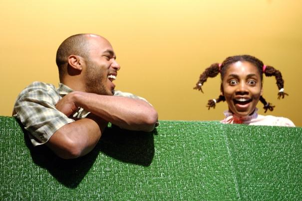 Geno Monteiro and Simone Vicari-Moore as Brenda's Kids.